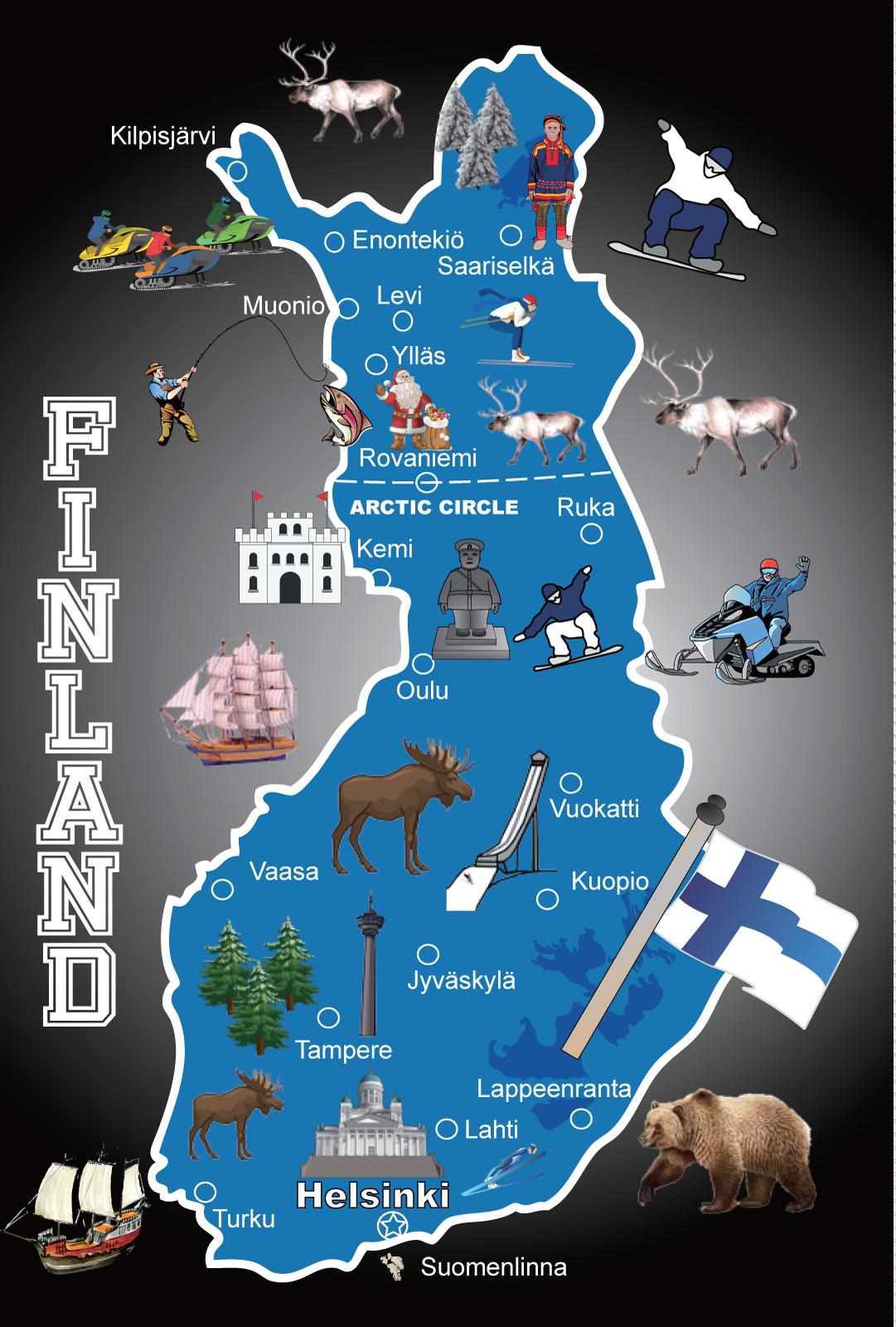 102 Suomen Kartta Levymagneetti Musta Oy Giftis Ab